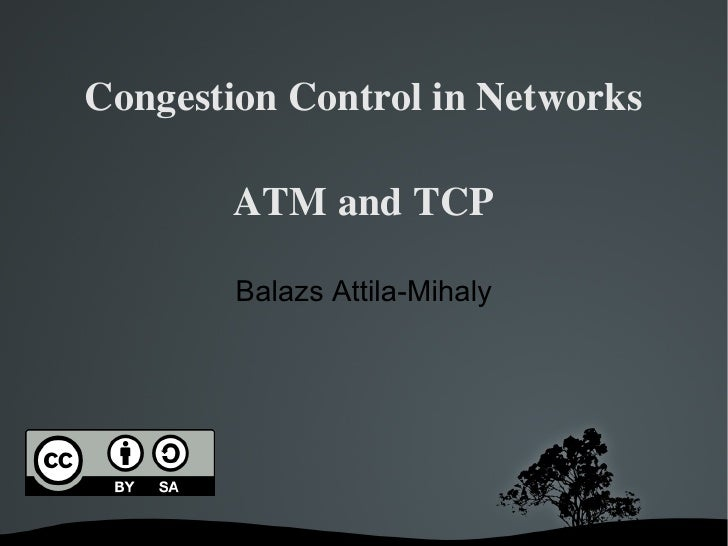 Congestion Control in Computer Networks - ATM and TCP