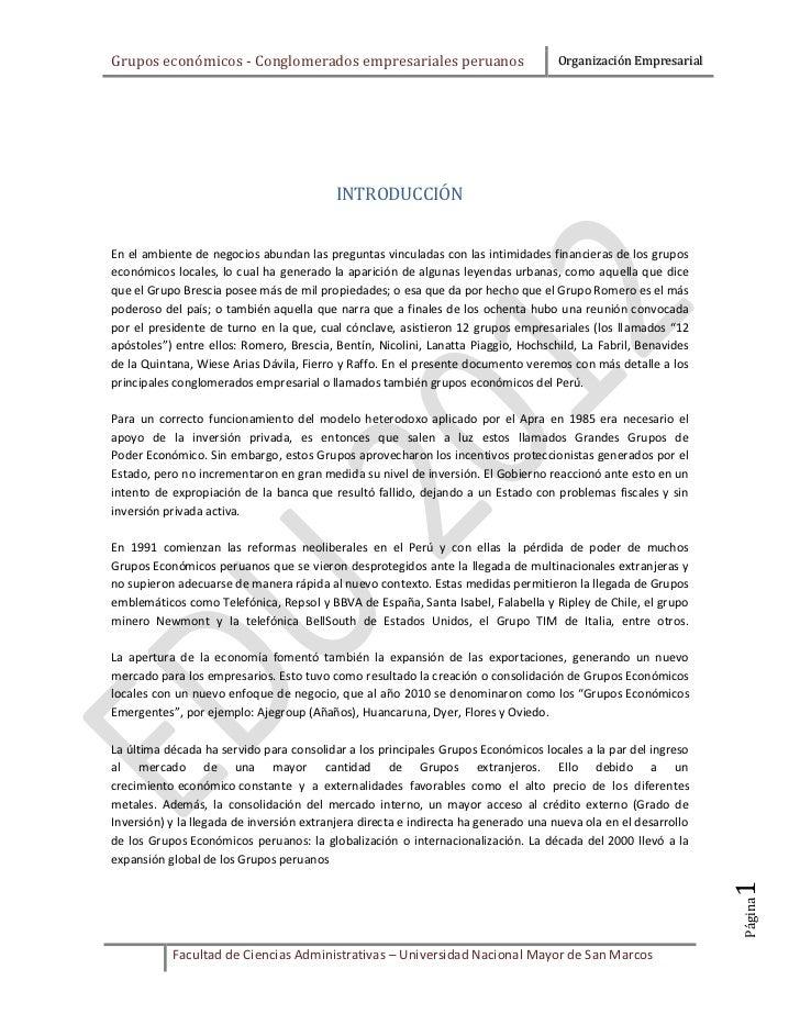 Conglomerados empresariales peruanos (Grupos económicos)
