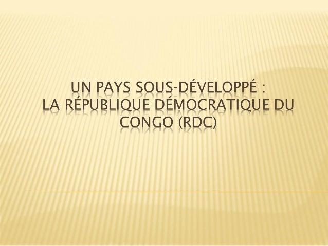  A. Introduction : RDC et ressources naturelles