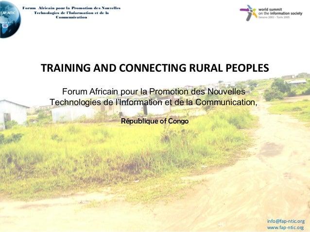 Connect AfricaFAP-NTICForum Africain pour la Promotion des NouvellesTechnologies de l'Information et de laCommunicationTRA...