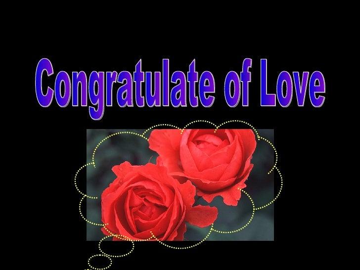 Congratulate of Love