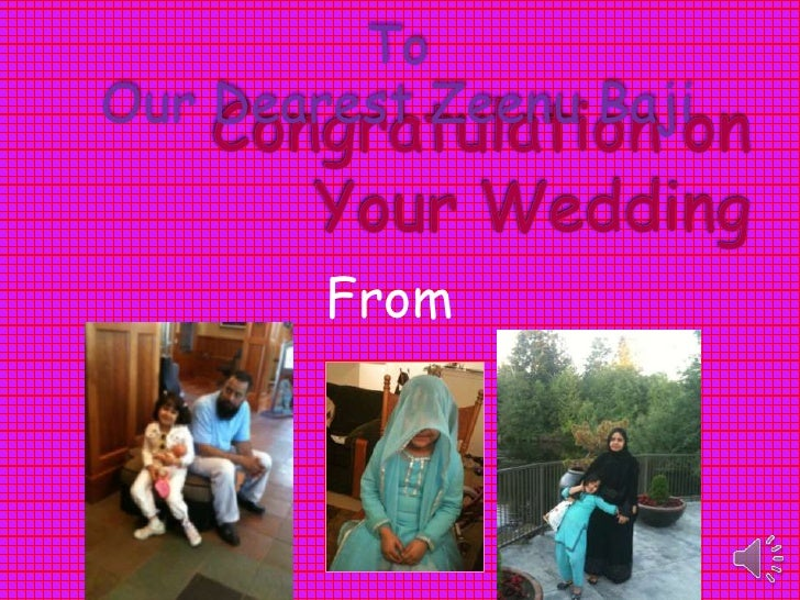Congratulation on your wedding zeenu