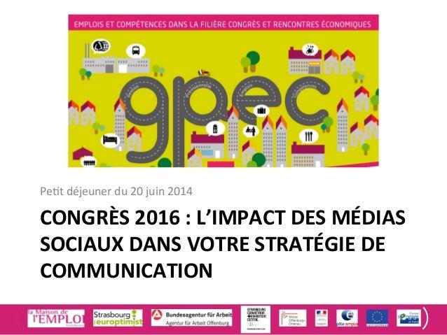 Congrès 2016 : impact des Médias sociaux dans votre stratégie de communication