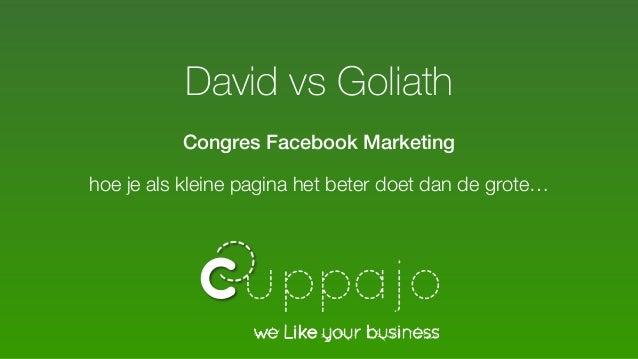 David vs Goliath Congres Facebook Marketing hoe je als kleine pagina het beter doet dan de grote…