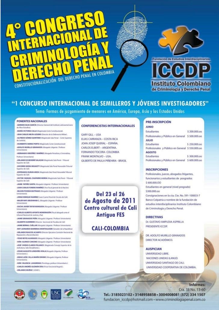 Congreso derecho penal