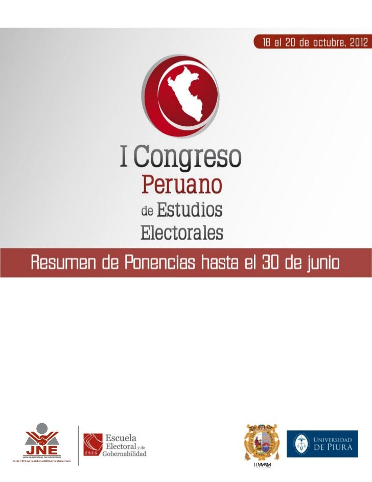 """""""Promoviendo el Fortalecimiento del Sistema Democrático en el Perú del Siglo XXI""""                                         ..."""