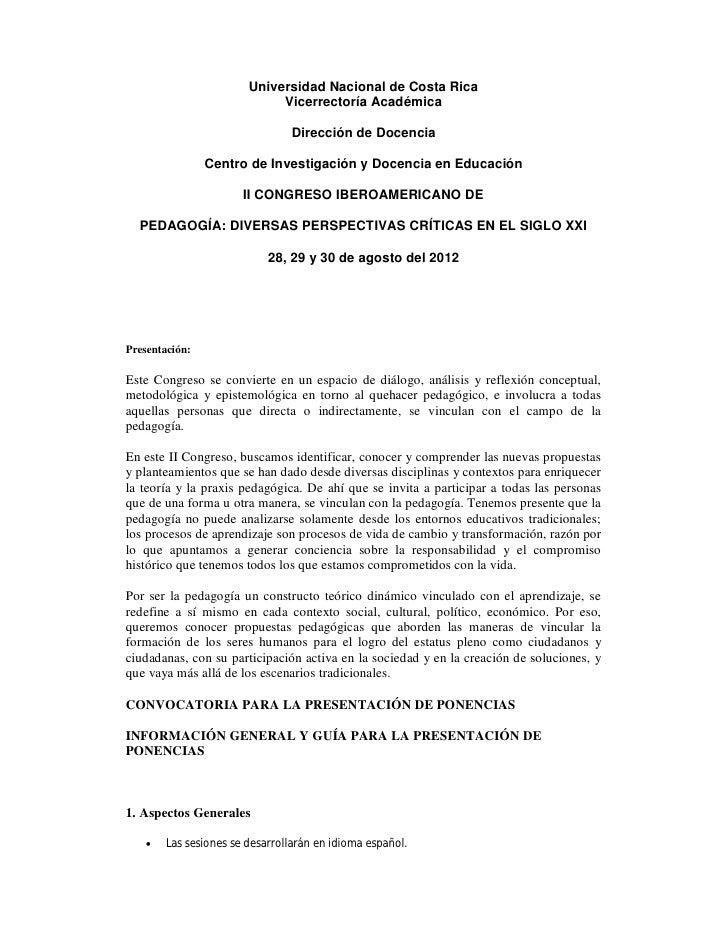 Universidad Nacional de Costa Rica                             Vicerrectoría Académica                                Dire...
