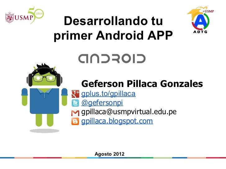 Congreso visión 2012 -  taller android