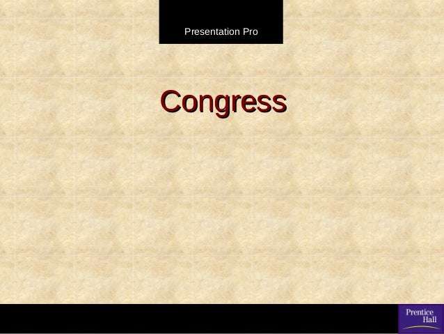Congress intro