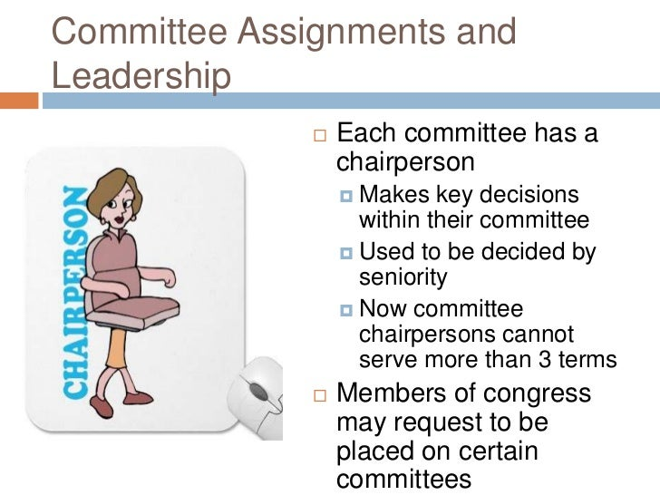 Congress committee assignments
