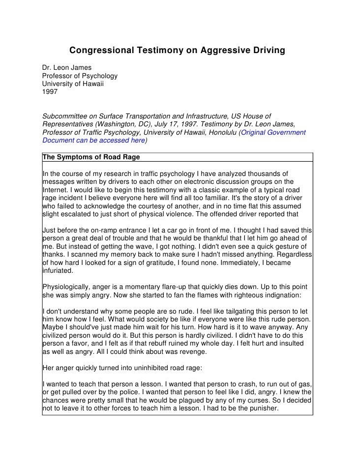 anger and agression essay