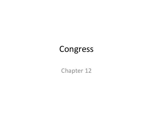 CongressChapter 12