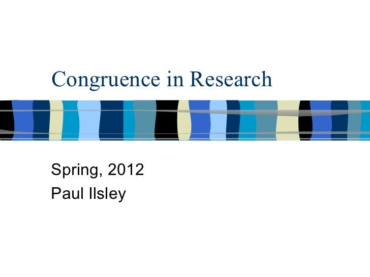 Congruence model brief presentation