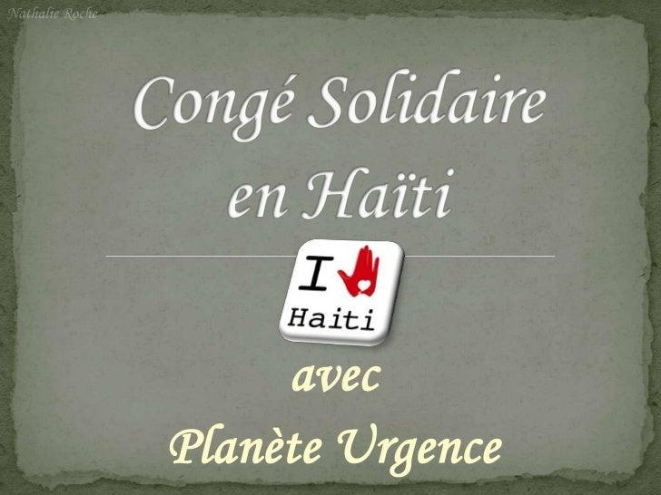 Congé Solidaire HaïTi