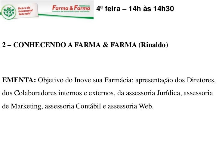 Conhecendo a farma & farma julho 2011