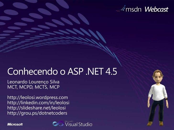 Conhecendo o ASP .NET 4.5
