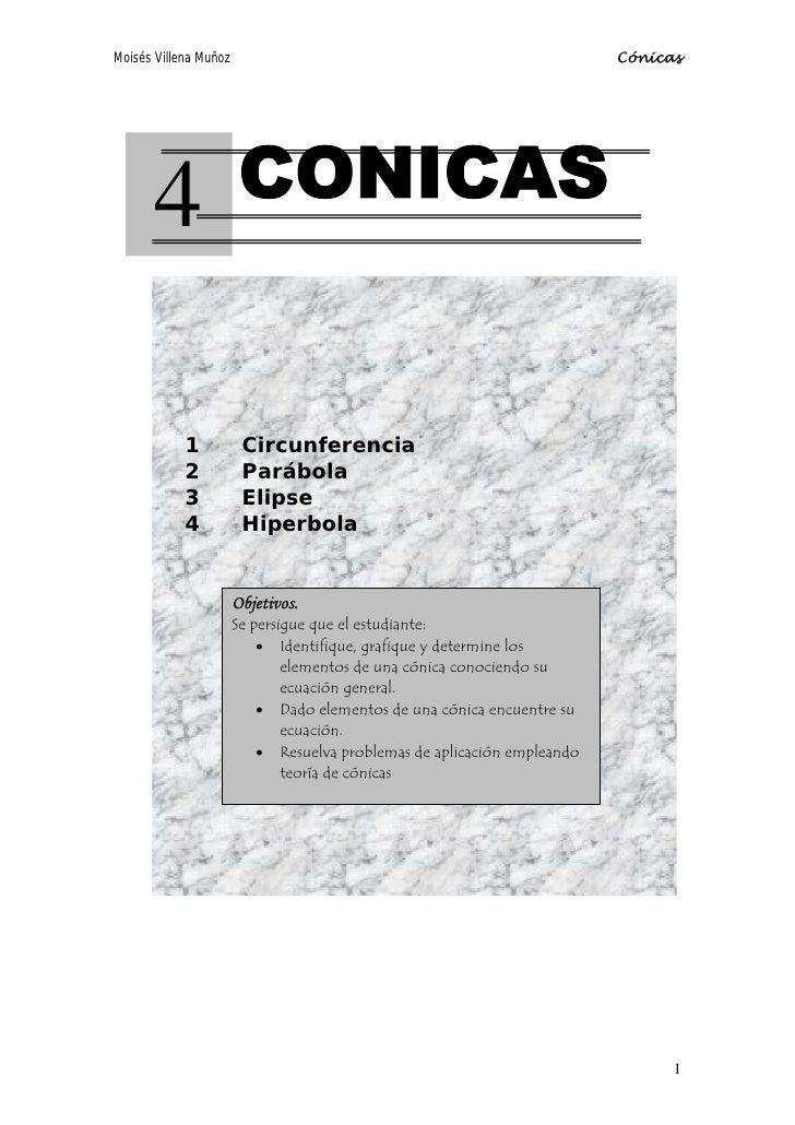 Moisés Villena Muñoz                                                      Cónicas            4              1           Ci...