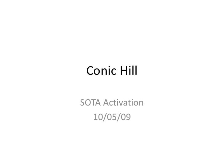 Conic Hill<br />SOTA Activation<br />10/05/09<br />