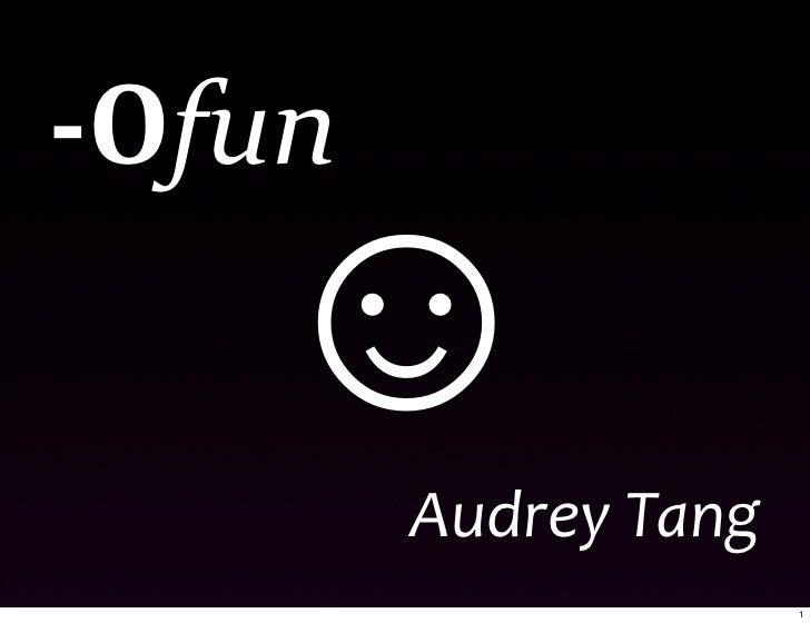 -Ofun: Optimizing for Fun