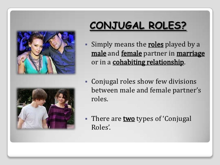 higher sociology conjugal roles