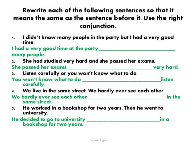 conjunctions list for essays