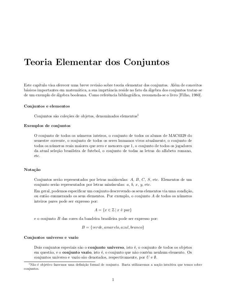 Conjuntos  matemática