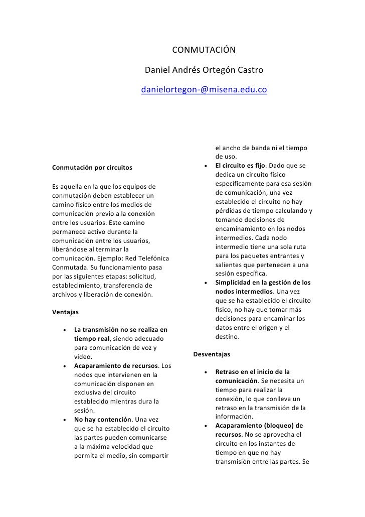 CONMUTACIÓN                              Daniel Andrés Ortegón Castro                             danielortegon-@misena.ed...