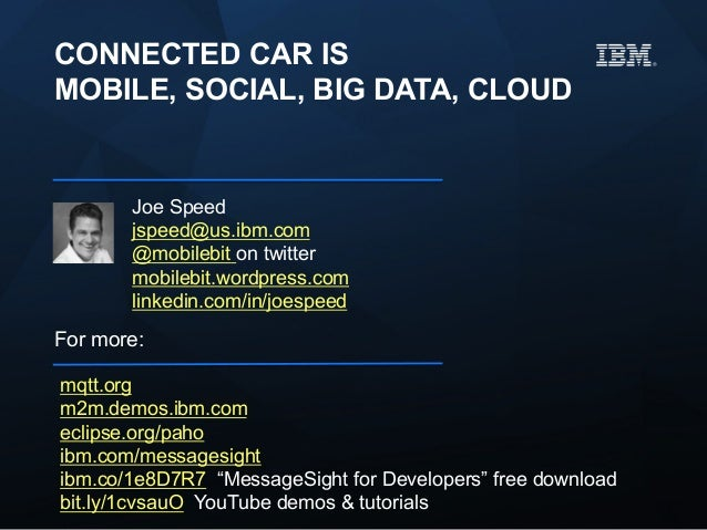 connected car is mobile, social, big data, cloud