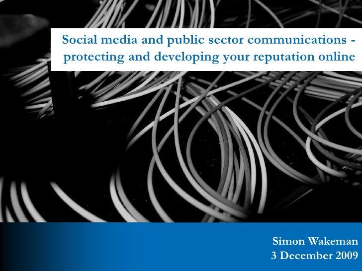 Social Media for the Public Sector presentation - Connected Nottingham - 3 December 2009