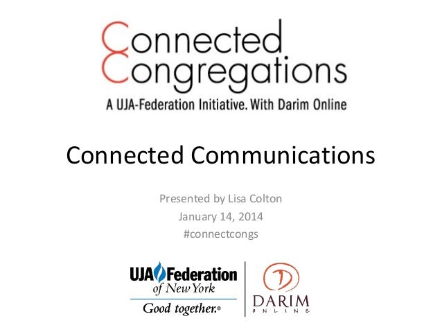 Connected Congregations: Connected Communications