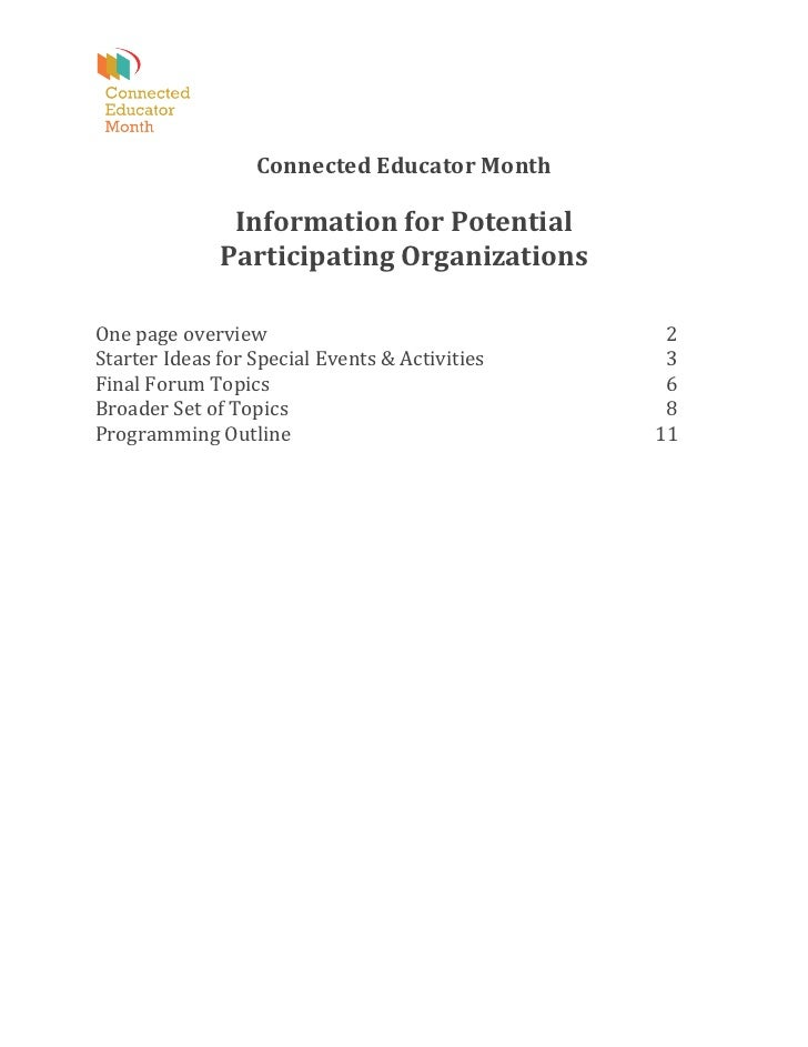 Connected	  Educator	  Month	          ...