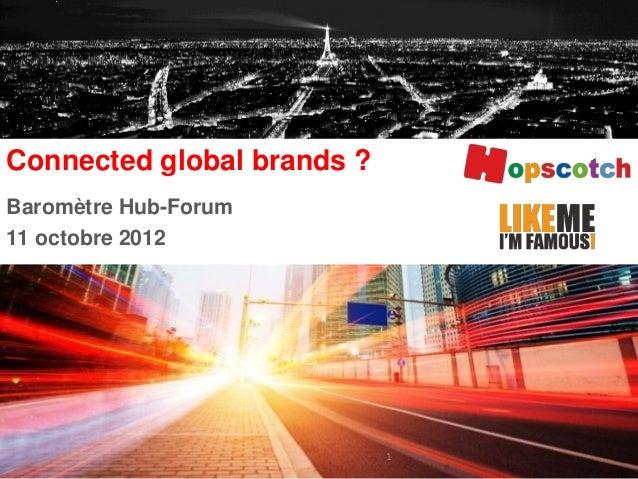 Baromètre Hub-Forum11 octobre 2012Connected global brands ?1