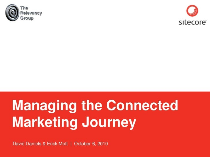 Sitecore. Compelling Web Experiences          Managing the Connected      Marketing Journey      David Daniels & Erick Mot...