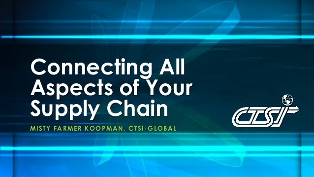 Connecting All Aspects of Your Supply Chain