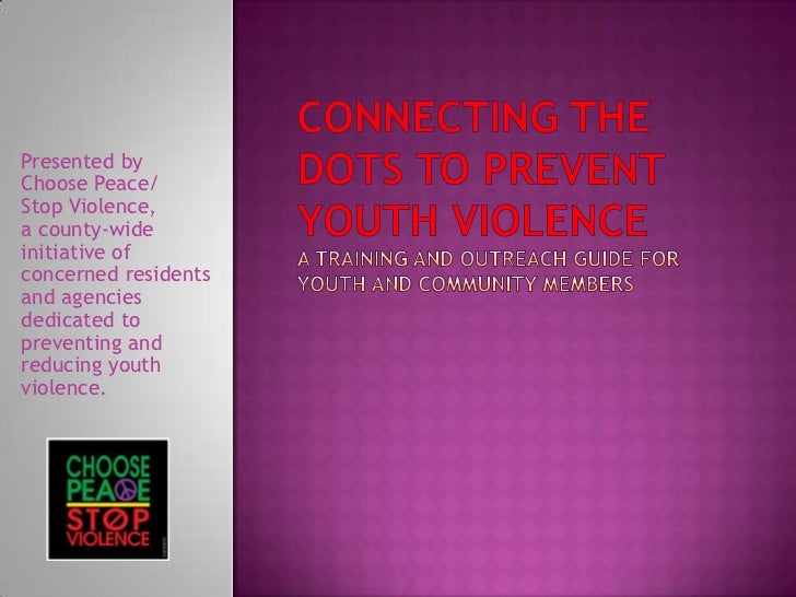 Connecting the dots youth and community