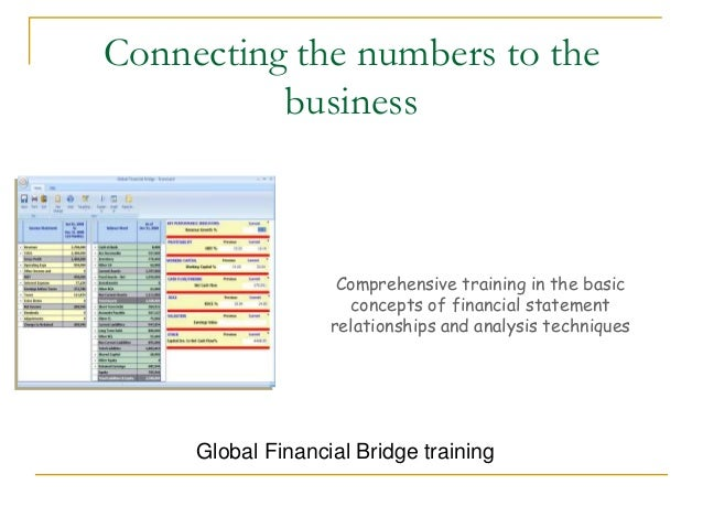 Connecting the numbers to the business  Comprehensive training in the basic concepts of financial statement relationships ...