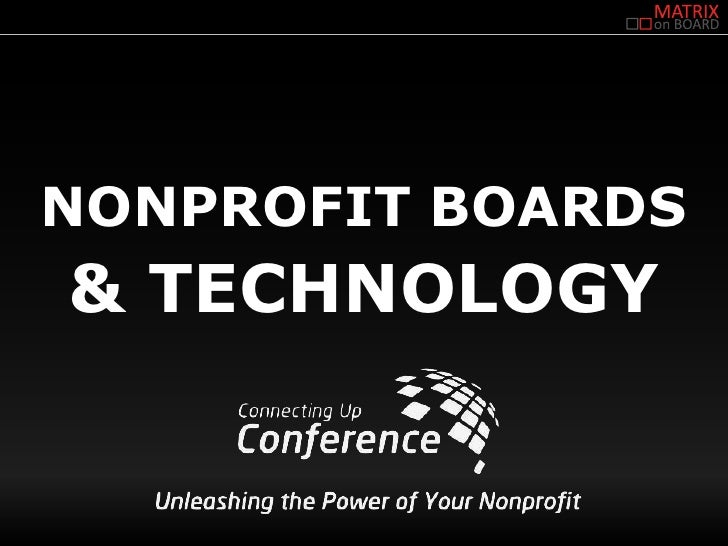 NONPROFIT BOARDS& TECHNOLOGY