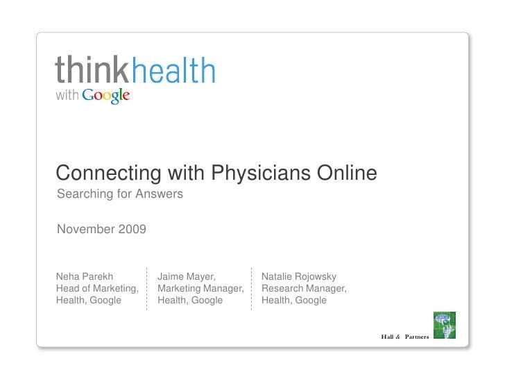 Enquête Google - Santé