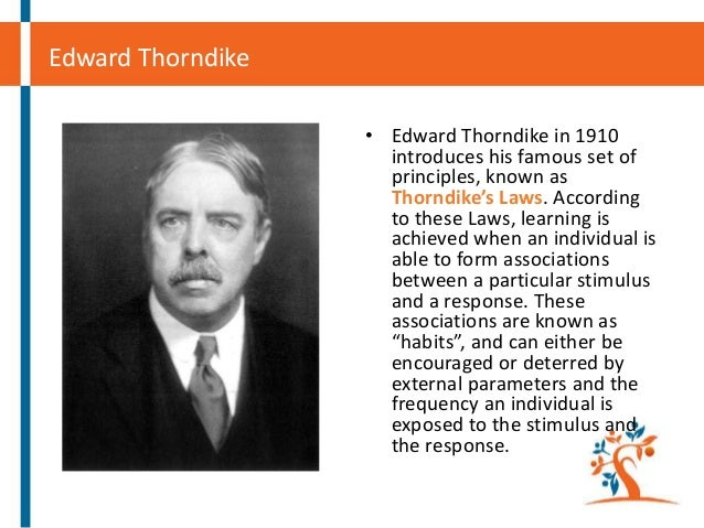"""edward lee thorndike and his behaviour experiments Edward lee thorndike the origin of the scientific study of animal behavior in his field-breaking work, thorndike described his """"puzzle box†experiments."""