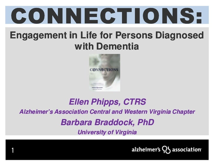 CONNECTIONS:CONNECTIONS :Engagement in Life for Persons Diagnosed            with Dementia                    Ellen Phipps...