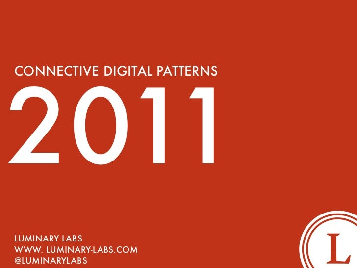 Connective Digital  Patterns 2011