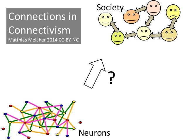 Neurons Society ? Connections in Connectivism Matthias Melcher 2014 CC-BY-NC