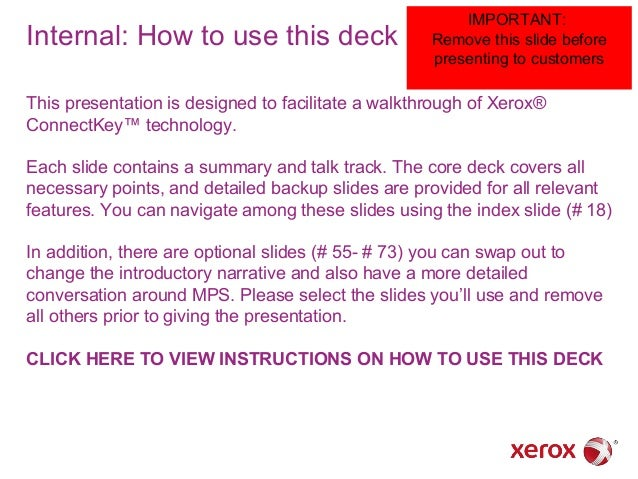 Internal: How to use this deck  IMPORTANT: Remove this slide before presenting to customers  This presentation is designed...