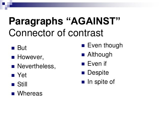 Connectors to conclude an essay