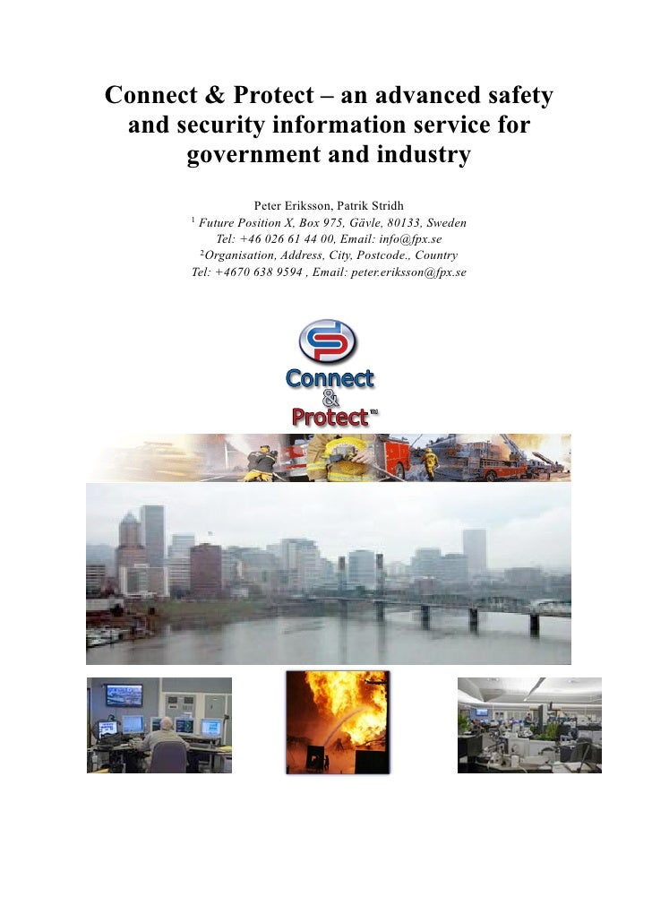 Connect & Protect – an advanced safety  and security information service for       government and industry                ...
