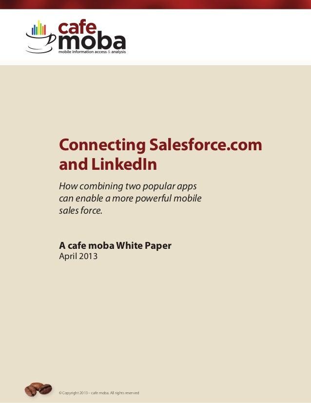 Connecting Salesforce & LinkedIn
