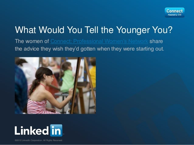 What Would You Tell the Younger You?