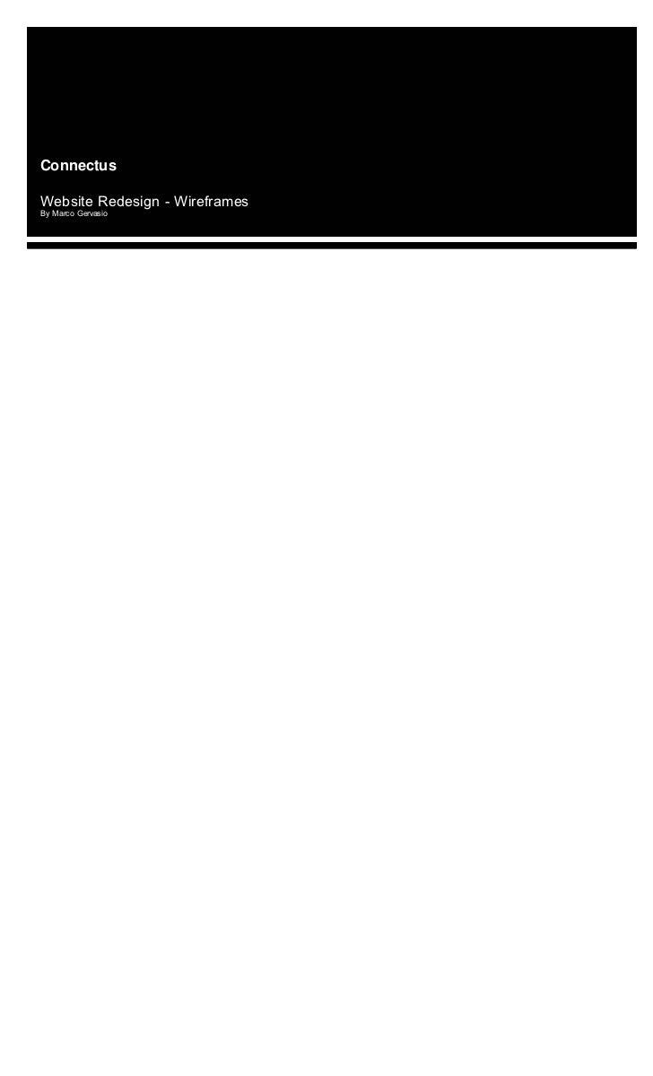 Wireframes - Corporate Website (digital services)
