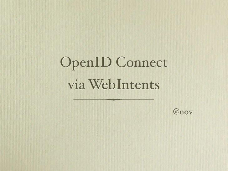 OpenID Connect via WebIntents