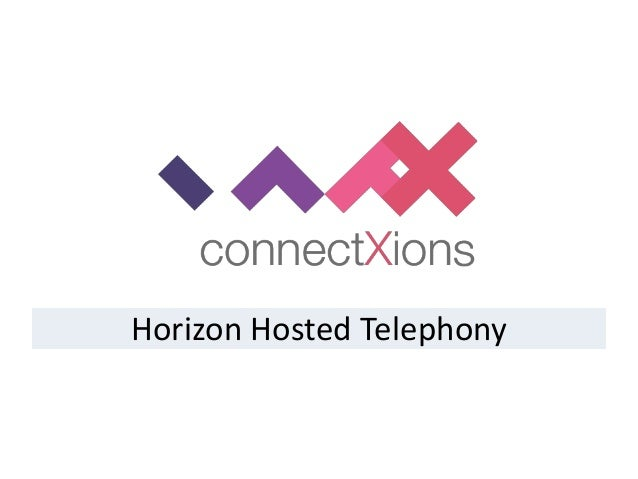ConnectXions Horizon Hosted Telephony Integration Overview